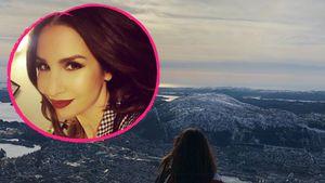 Überwältigender Ausblick: Schwangere Sila genießt Norwegen!