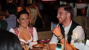 Simone Ballack mit Freund Florian Streifeneder beim Oktoberfest