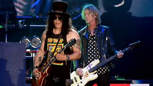 Slash und Duff McKagan von Guns N' Roses beim Coachella Valley Music & Arts Festival 2016