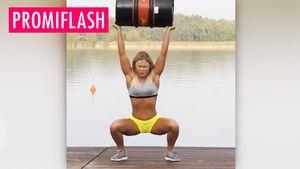 Sophia Thiel stemmt 50-Liter-Bierfass