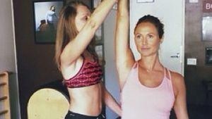 Schwangere Stacy Keibler: Workout trotz Babybauch