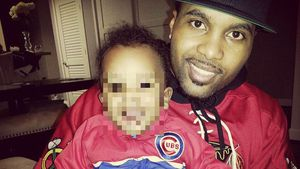 Sterling Brim mit seinem Neffen Justin