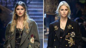 Stefanie Giesinger und Caro Dauer bei Dolce & Gabbana