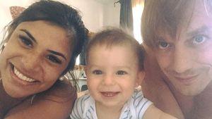Tanja Tischewitsch mit Thomas Radeck und Baby Ben im Hotel