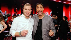 "Tay Schmedtmann und Andreas Bourani bei ""The Voice of Germany"""