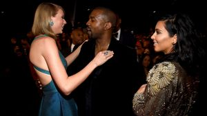 Taylor Swift, Kanye West und Kim Kardashian bei den 57. GRAMMY-Awards 2015