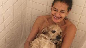 """Hier duscht """"Desperate Housewives""""-Teri mit ihrem Hund"""
