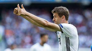 Thomas Müller beim Spiel im Achtelfinale der EM 2016
