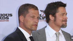 """Til Schweiger und Brad Pitt auf der """"Inglourous Basterds""""-Premiere 2009 in Berlin"""