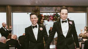 Todd Spiewak und Jim Parsons bei ihrer Hochzeit