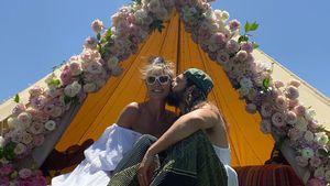 Blumen am Zelt: So verbrachte Heidi Klum ersten Hochzeitstag