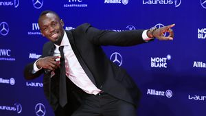 "Usain Bolt bei den ""Laureus World Sports Awards"" 2017 in Monte Carlo"