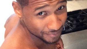 Achtung heiß! Usher brät oben ohne ein Spiegelei