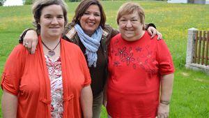 Beate Fischer mit Vera Int-Veen und Mutter Irene