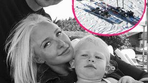 Wladimir Klitschko, Hayden Panettiere und Tochter Kaya / Ski