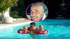 Spaß im Pool: Christian Tews' Zwillinge planschen schon!