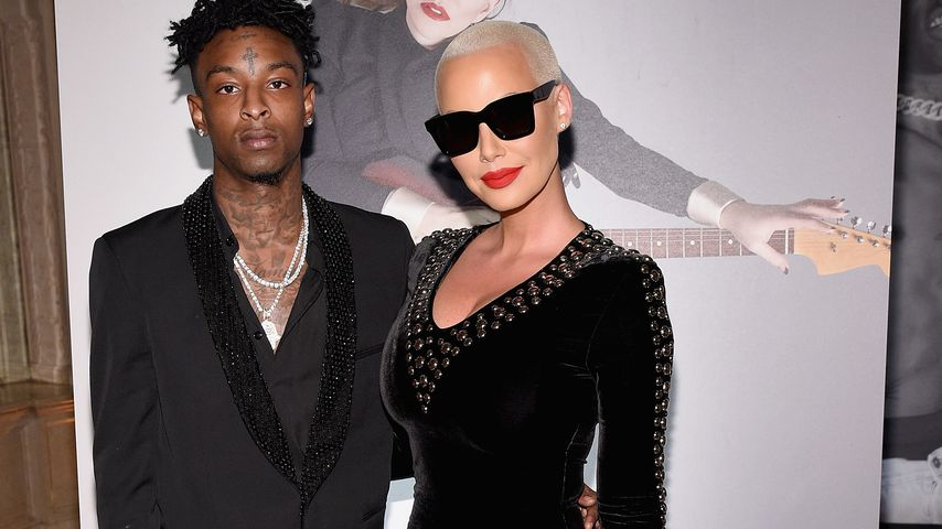 21 Savage und Amber Rose im The Plaza Hotel in New York