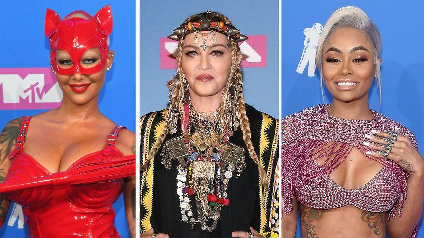 Von Lack-Dress bis Kettenhemd: Die skurrilen Looks der VMAs