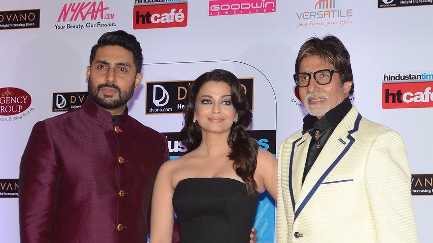 Abhishek, Aishwarya und Amitabh Bachchan, 2015