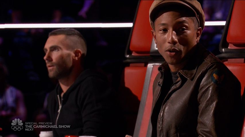 adam levine und Pharrell Williams