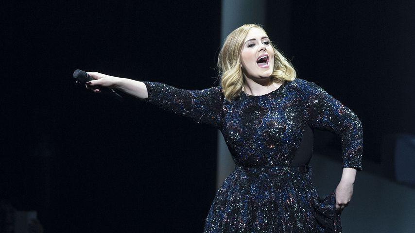 Schlagkräftig: Adele kämpft auf der Bühne mit Moskitos!