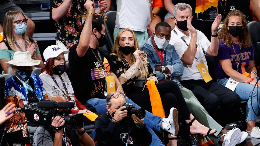 Adele und Rich Paul bei dem NBA-Finale im Juli 2021