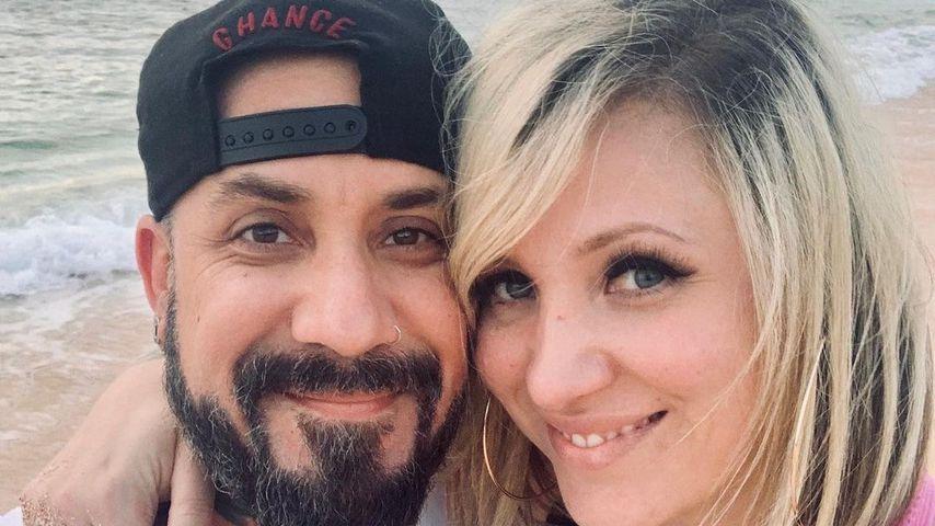 AJ McLean mit seiner Ehefrau Rochelle im Dezember 2019