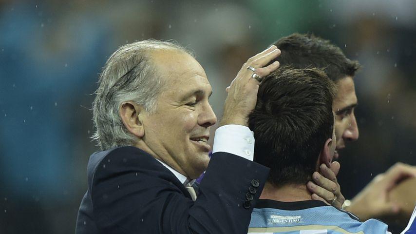 Alejandro Sabella und Lionel Messi bei der WM 2014 in Brasilien