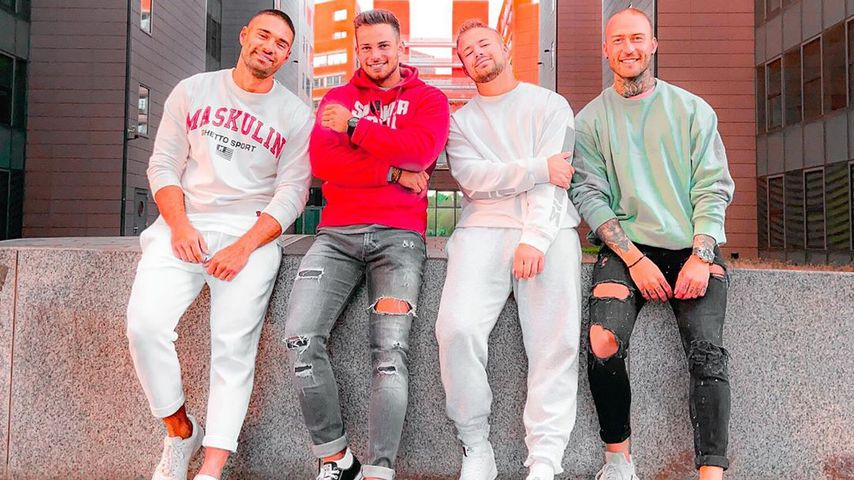 "Aleks, Dominic, Juliano und Elisha von ""Are You the One?"""