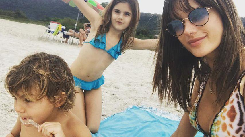 Alessandra Ambrosio mit ihren Kindern Noel und Anja