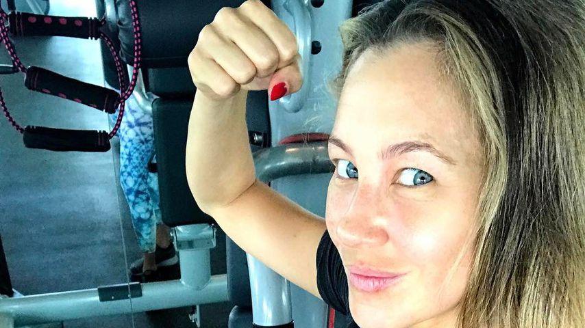Zu früh? Alessandra Meyer-Wölden 3 Wochen nach Geburt im Gym