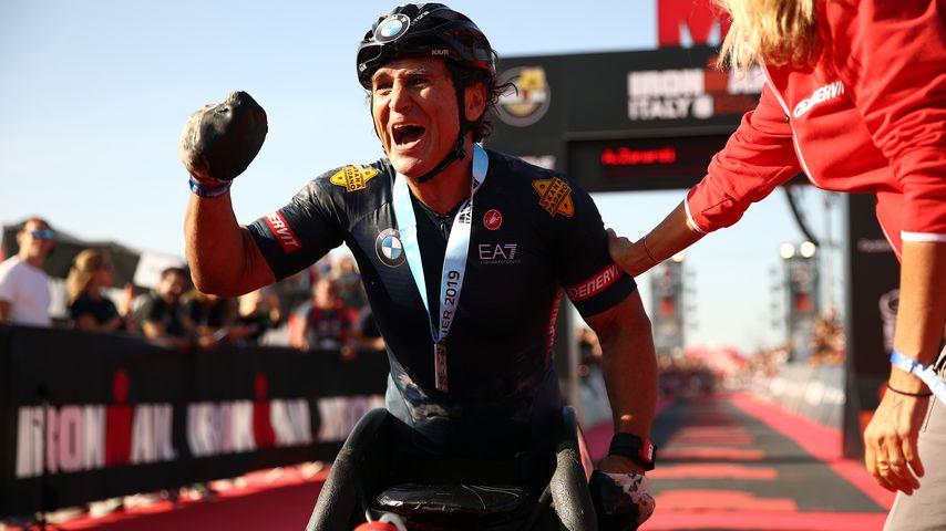 Alessandro Zanardi beim Ironman Italy, 2019