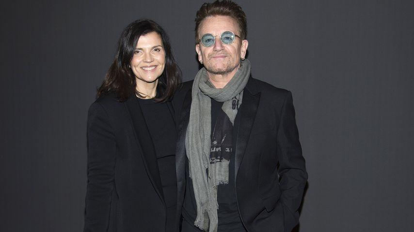 Ehefrau Ali Hewson und Musiker Bono