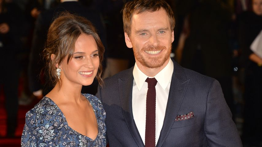 "Alicia Vikander und Michael Fassbender bei der Premiere von ""The Light Between Oceans"" in London"