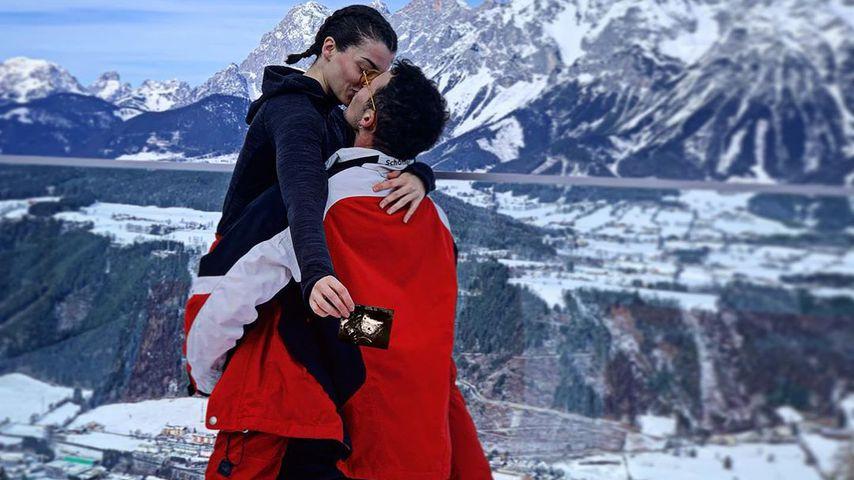Alina und Brix Schaumburg in Österreich im Februar 2020