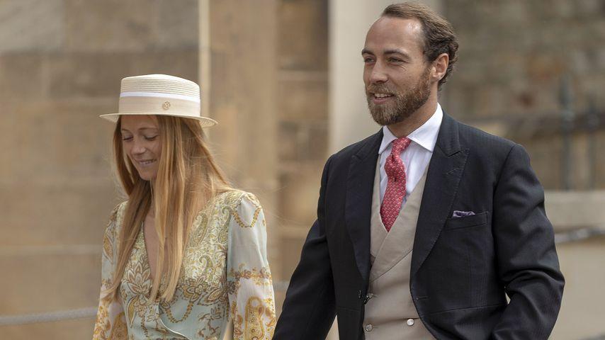 Alizee Thevenet und James Middleton bei Lady Gabriella Windsors Hochzeit im Mai 2019