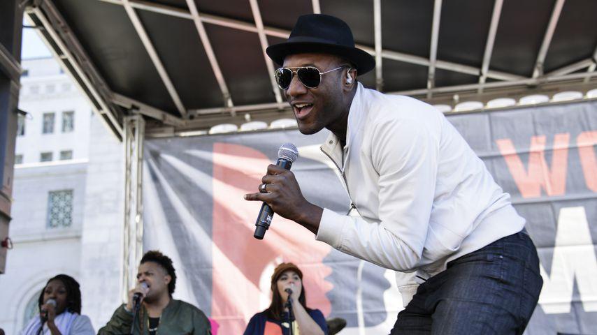 Sänger Aloe Blacc beim Women's March 2019