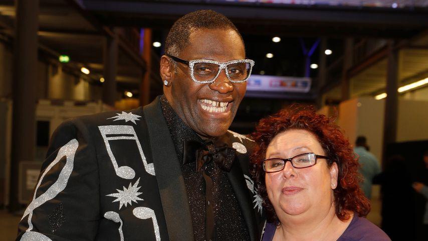 Alphonso Williams mit seiner Ehefrau Manuela im Mai 2017