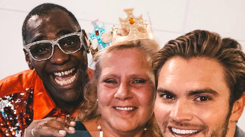 "Alphonso Williams, Silvia Wollny und Johannes Haller nach ""Promi Big Brother"" 2018"