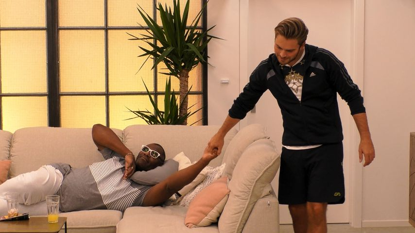 "Alphonso Williams und Johannes Haller bei ""Promi Big Brother"""