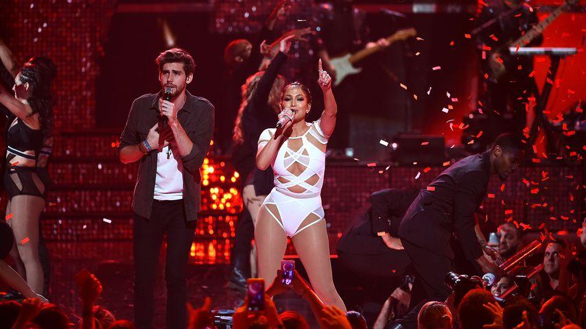 Álvaro Soler und Jennifer Lopez in Las Vegas, 2015