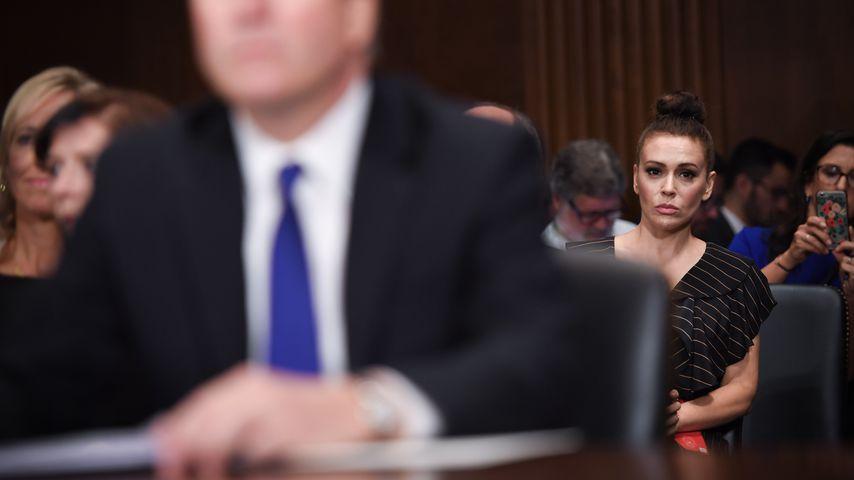 Alyssa Milano bei der Anhörung von Brett Kavanaugh