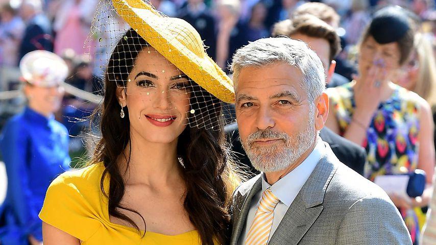 Amal und George Clooney auf der Royal-Hochzeit von Prinz Harry und Herzogin Meghan