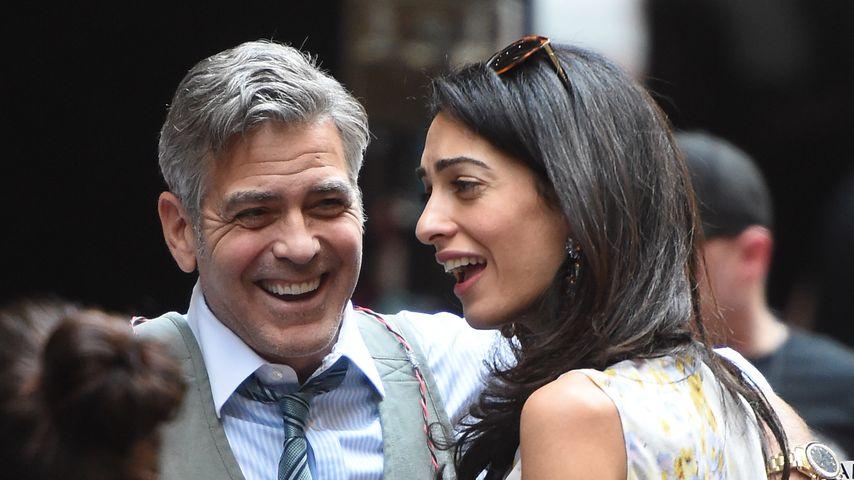 So glücklich: Amal & George Clooney lachen Ehe-Probleme weg