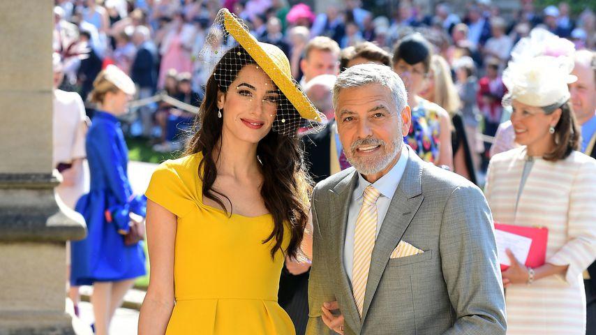 Amal und George Clooney auf Meghan und Harrys Hochzeit 2018