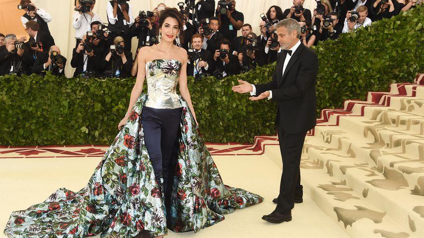 Amal und George Clooney bei der Met Gala in New York