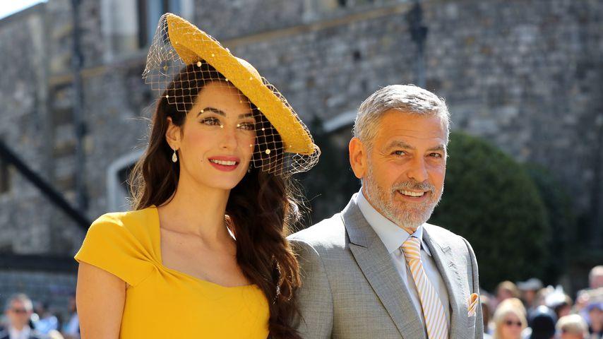 Amal und George Clooney auf der Hochzeit von Meghan und Harry