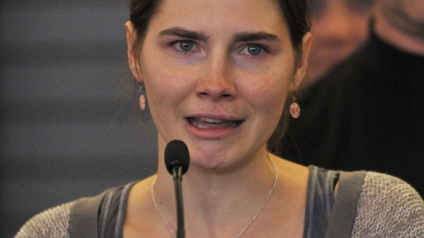 Amanda Knox während einer Pressekonferenz in Seattle 2011