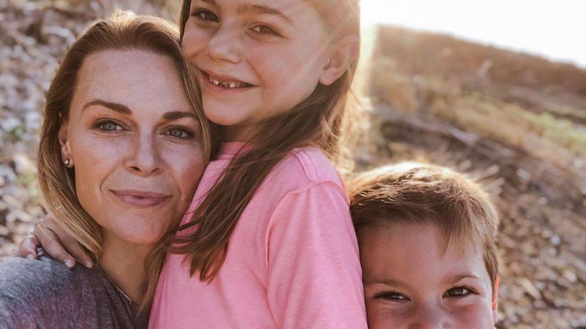 Amber Smith mit ihren Kindern