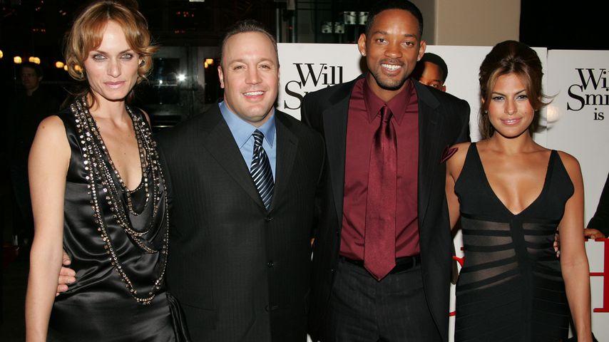 """Amber Valletta, Kevin James, Will Smith und Eva Mendes auf der Weltpremiere von """"Hitch"""" in New York"""